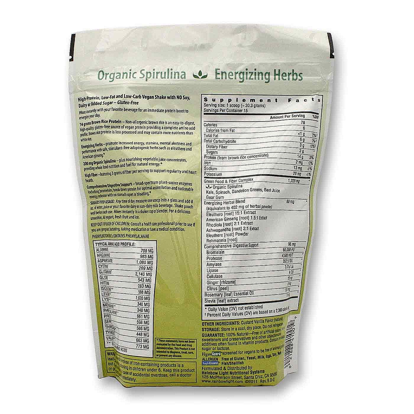 rainbow light protein energizer vanilla 10 7 oz. Black Bedroom Furniture Sets. Home Design Ideas