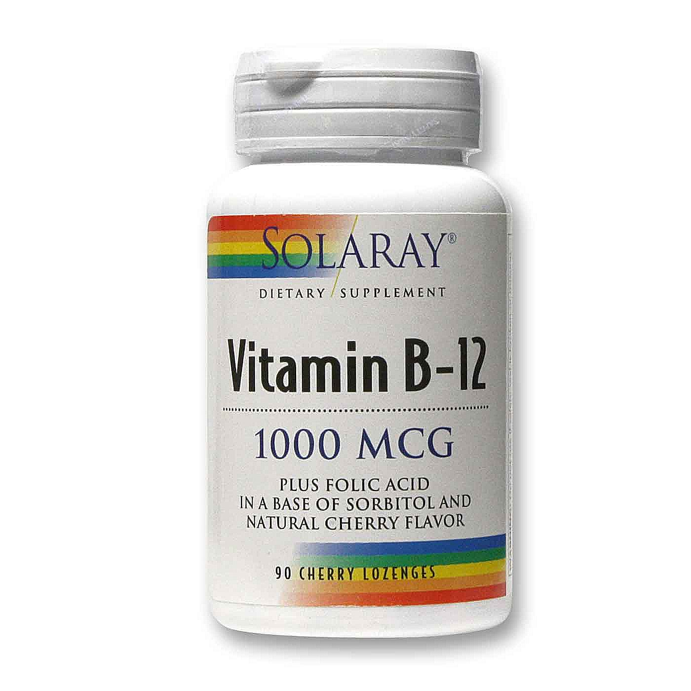 solaray vitamin b 12 cherry 1 000 mcg 90 sublingual lozenges evitamins uk. Black Bedroom Furniture Sets. Home Design Ideas
