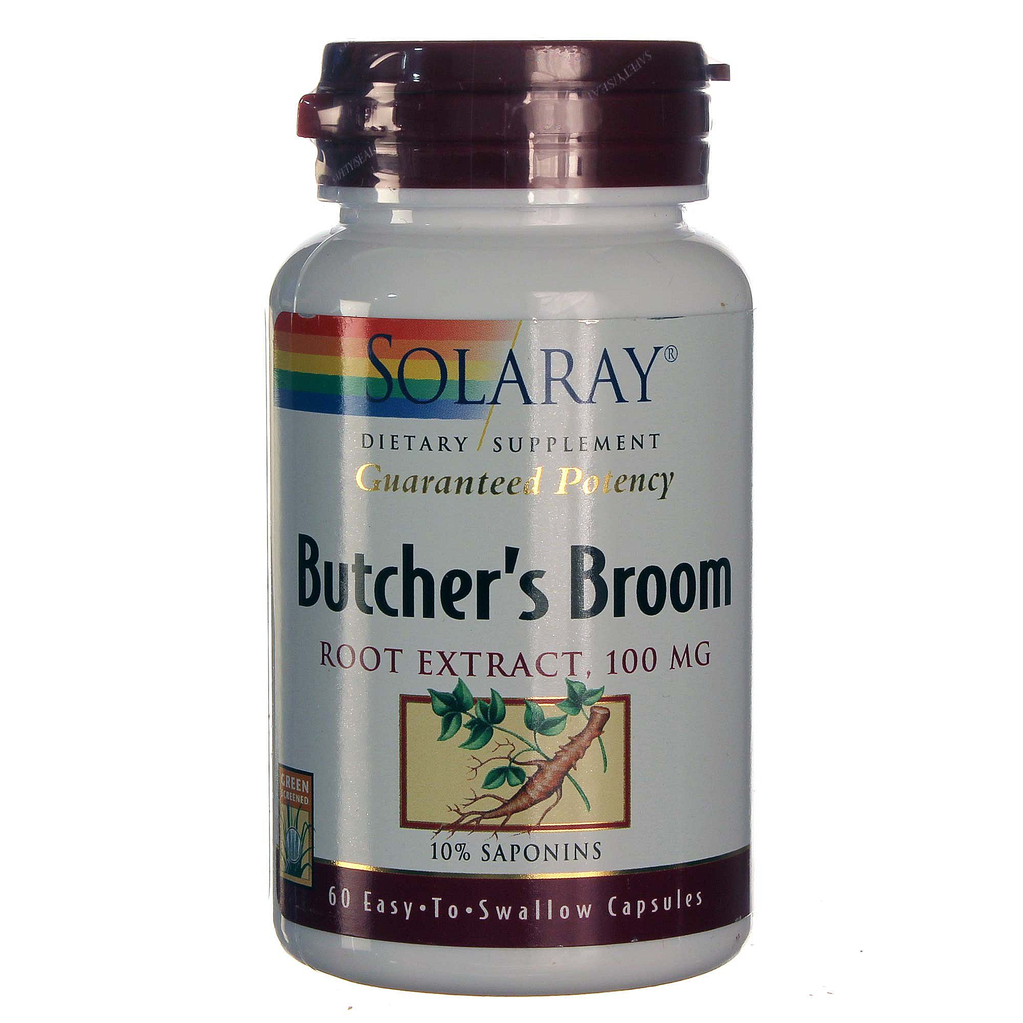 Solaray Butcher S Broom Root Extract 100 Mg 60