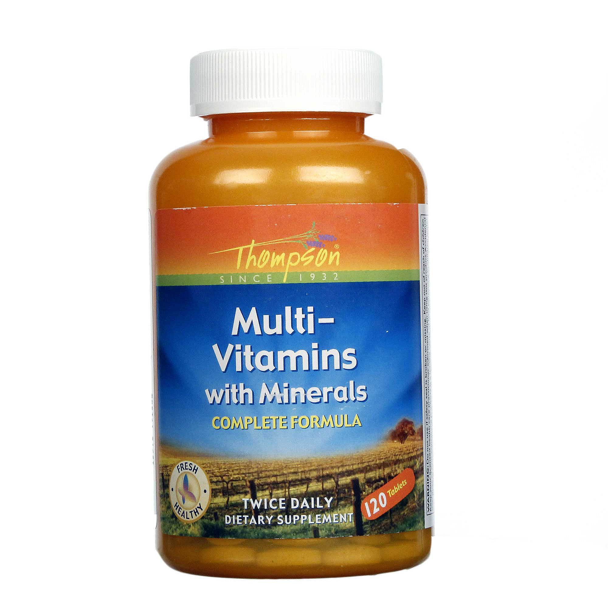 thompson multi vitamins with minerals 120 tablets