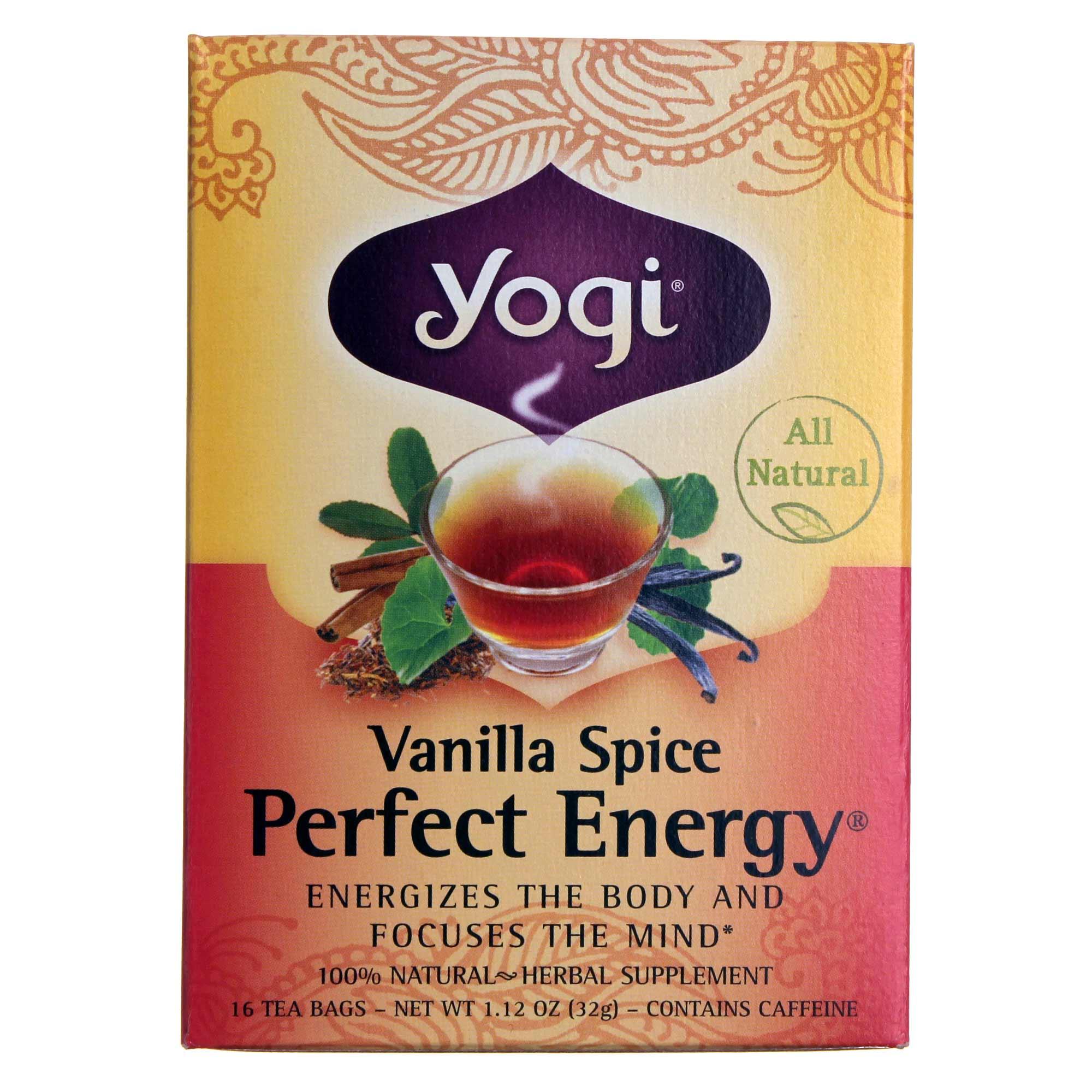 Buy Yogi Tea Organic Teas Perfect Energy Tea Vanilla