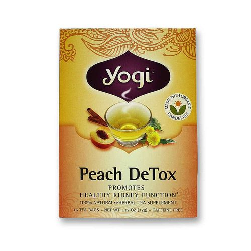 yogi tea organic teas peach detox organic tea 16 bags. Black Bedroom Furniture Sets. Home Design Ideas