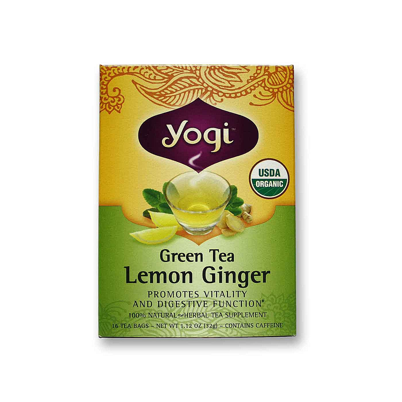 Evitamins Com Yogi Tea Organic Teas Green Tea Lemon