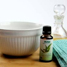 Steam bowl with Eucalyptus essential oil