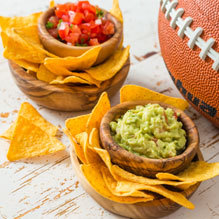 Salsa and whipped feta make a great game day appetizer with little calorie counting!