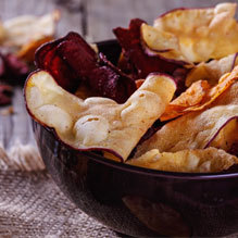 Make your own chips for a healthy alternative to game day.
