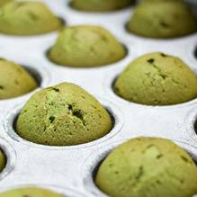 Green tea goes great with muffins. Try these with honey or chocolate chips!