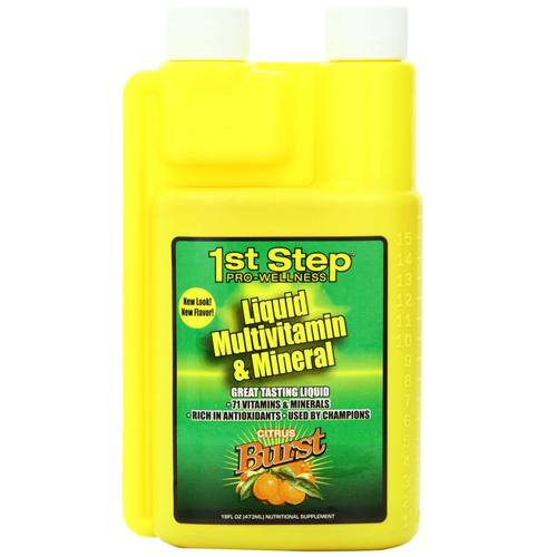 1st Step for Energy Liquid Multi-Vitamin and Mineral Citrus Burst - 16 fl oz (1 pt) 473 ml - 20977_01.jpg