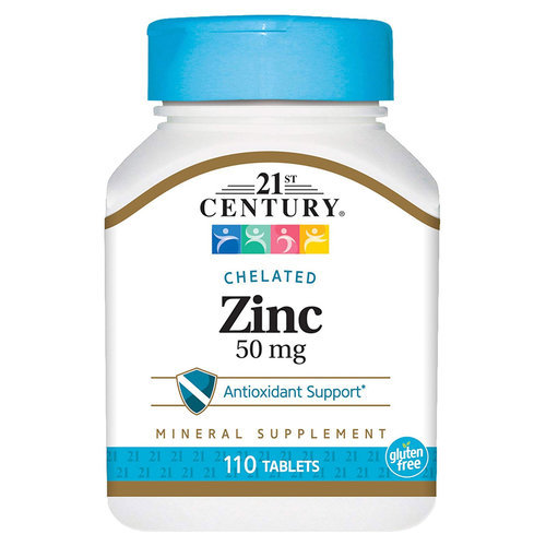 21st Century Chelated Zinc - 50 mg - 110 Tablets - 278401_front.jpg