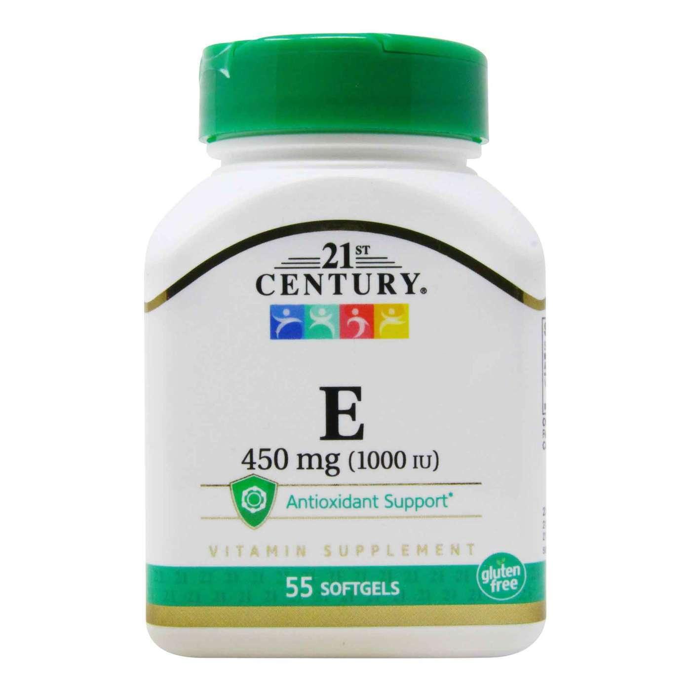 21st Century Vitamin E 450 Mg 55 Softgels Evitamins Com
