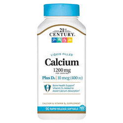 21st Century Liquid Filled Calcium Plus D3