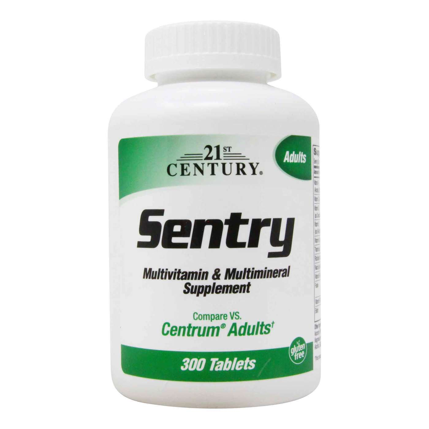 21st Century Sentry Multivitamin Multimineral Supplement 300 Tablets Evitamins Com