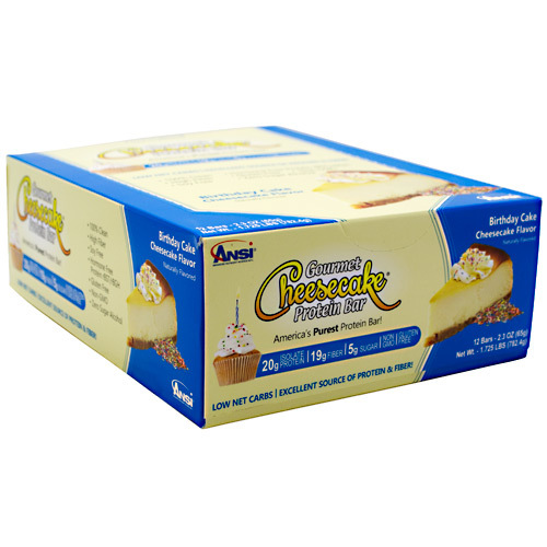ANSI Gourmet Cheesecake Protein Bar Birthday Cake - 12 bars