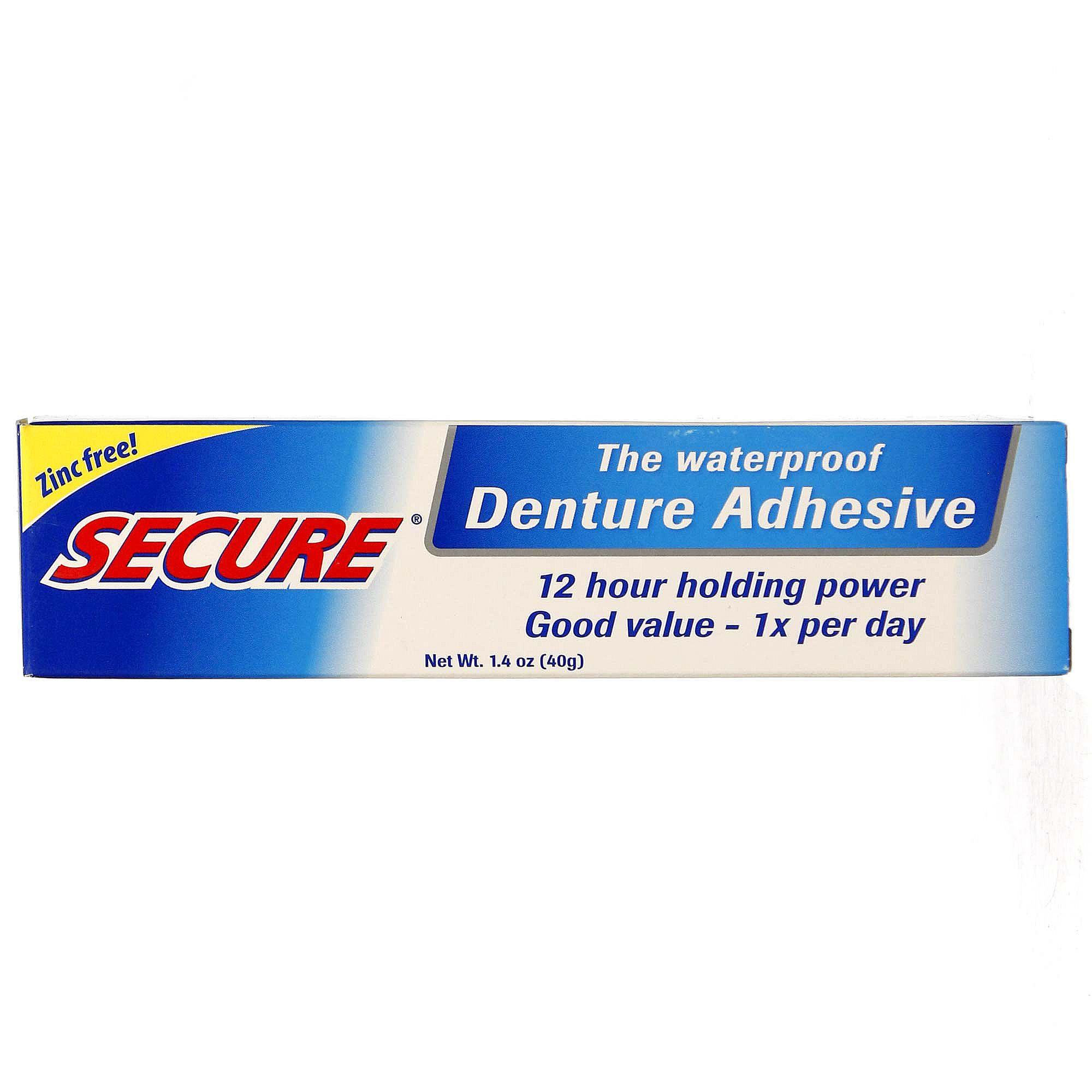 Secure Denture Adhesive >> A Vogel Secure Denture Adhesive 1 4 Oz