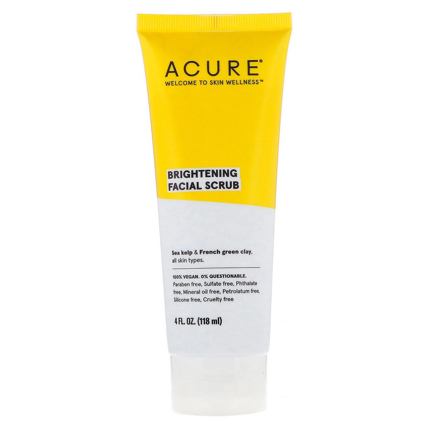 Acure Organics Brightening Facial Scrub - 4 fl oz
