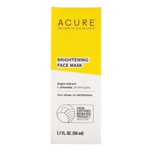 Acure Organics Brightening Facial Mask  - 1.7 oz (50 ml) - 110729_front.jpg