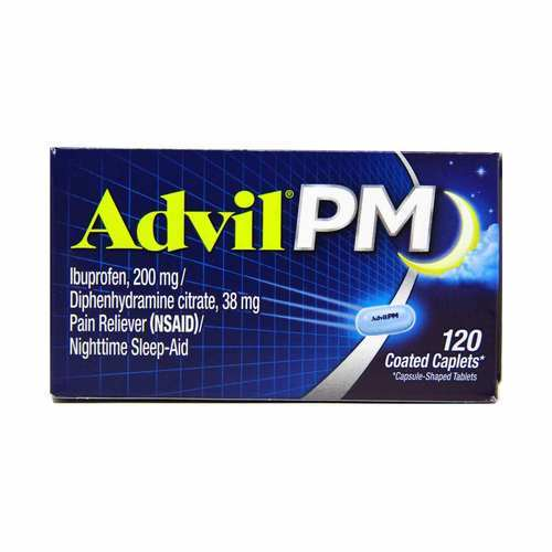 Advil PM Pain Reliever and Nighttime Sleep-Aid - 120 Coated Caplets - 110128_front2020.jpg