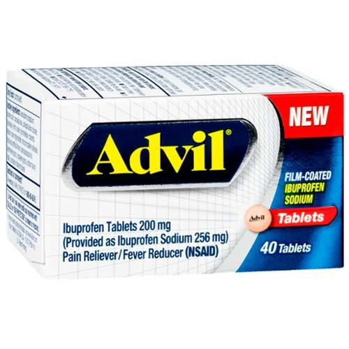 Advil Ibuprofen 200 mgの - 40 タブレット