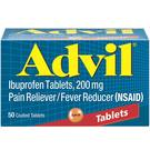 Advil Coated Ibuprofen 200 mg - 50 Tablets