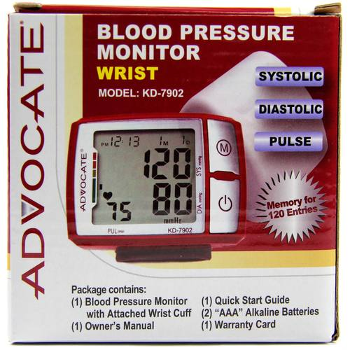 Wrist Blood Pressure Monitor with Color Indicator