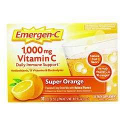 Alacer Emergen-C Vitamin C 1000 mg Super Orange