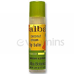 Alba Botanica Coconut Cream Lip Balm Tube