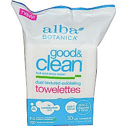 Alba Botanica Good  Clean Dual Textured Exfoliating Towelettes
