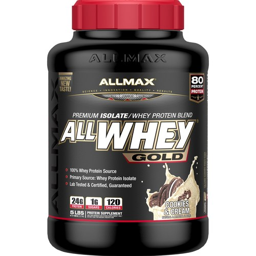 AllMax Nutrition Allwhey Gold Cookies and Cream - 5 lbs - 276067_a.jpg