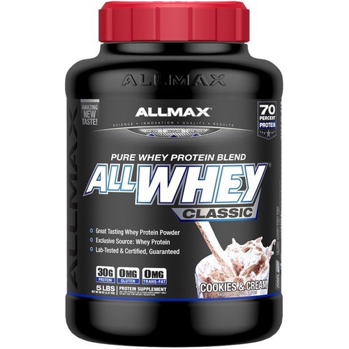 AllMax Nutrition Classic AllWhey Cookies and Cream - 80 oz - 276077_a.jpg