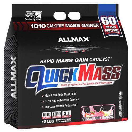 AllMax Nutrition QUICKMASS Strawberry Banana - 12 lbs - 276087_front.jpg
