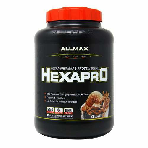 AllMax Nutrition Hexapro Chocolate - 5 lbs - 276098_front2020.jpg