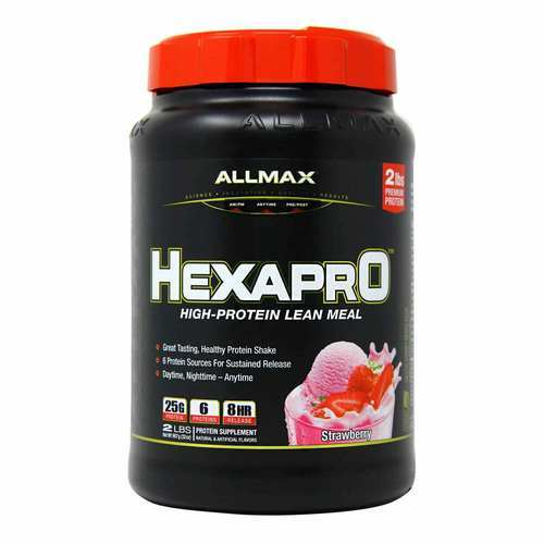 AllMax Nutrition Hexapro Strawberry - 2 lbs - 276101_front2020.jpg