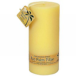 Aloha Bay Ecopalm Unscented Pillar Candle