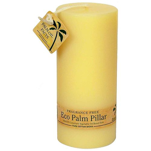 Ecopalm Unscented Pillar Candle