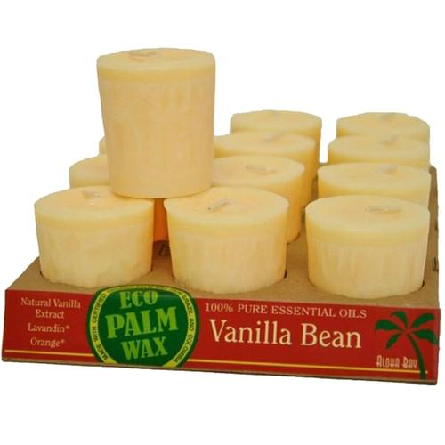 Eco Palm Wax Votive Candles