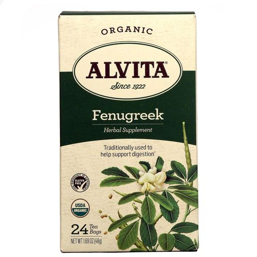 Alvita Organic Herbal Tea Fenugreek Seed - 24 Bags - 027434038065_1.jpg