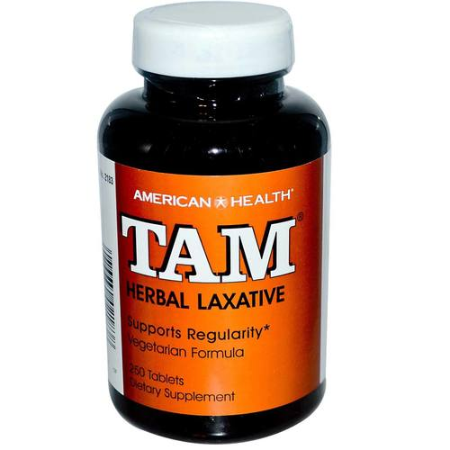 American Health Tam Herbal Laxative  - 100 Tablets - 1088_1.jpg