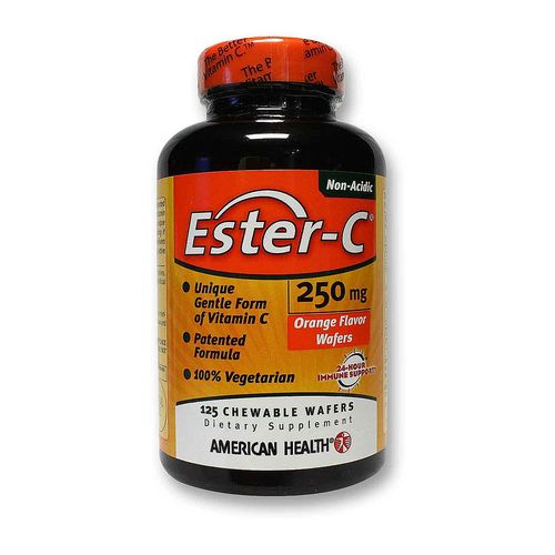 Ester C 250 mg - Orange Flavor Wafers