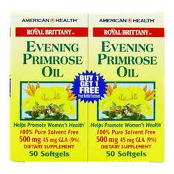 American Health Royal Brittany Evening Primrose Oil 500 mg (Twin Pack)