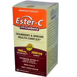 American Health Ester-C with Cranberry  Immune Health Complex