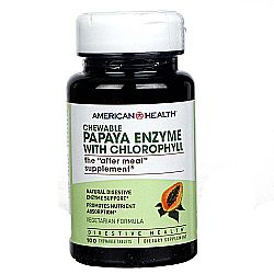 American Health Papaya Enzyme with Chlorophyll (Chewable)