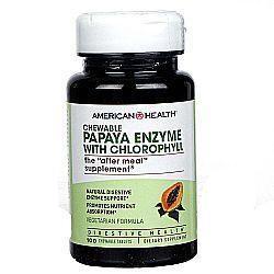 American Health Papaya Enzyme with Chlorophyll (Chewable)