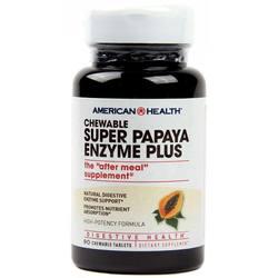 American Health Super Papaya Enzyme Plus- Sugarless