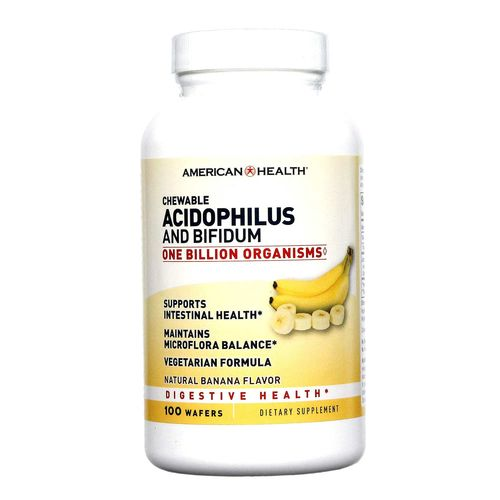 American Health Chewable Acidophilus Wafers Banana - 100 Wafers - 076630036153_11.jpg