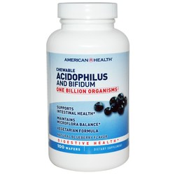 American Health Chewable Acidophilus Wafers