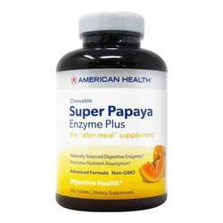 American Health Super Papaya Enzyme Plus- Sugarless