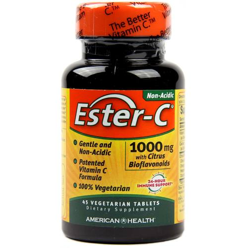 American Health Ester C with Citrus Bioflavonoids  - 100 mg - 45 Vegetarian Tablets - 7765_1.jpg