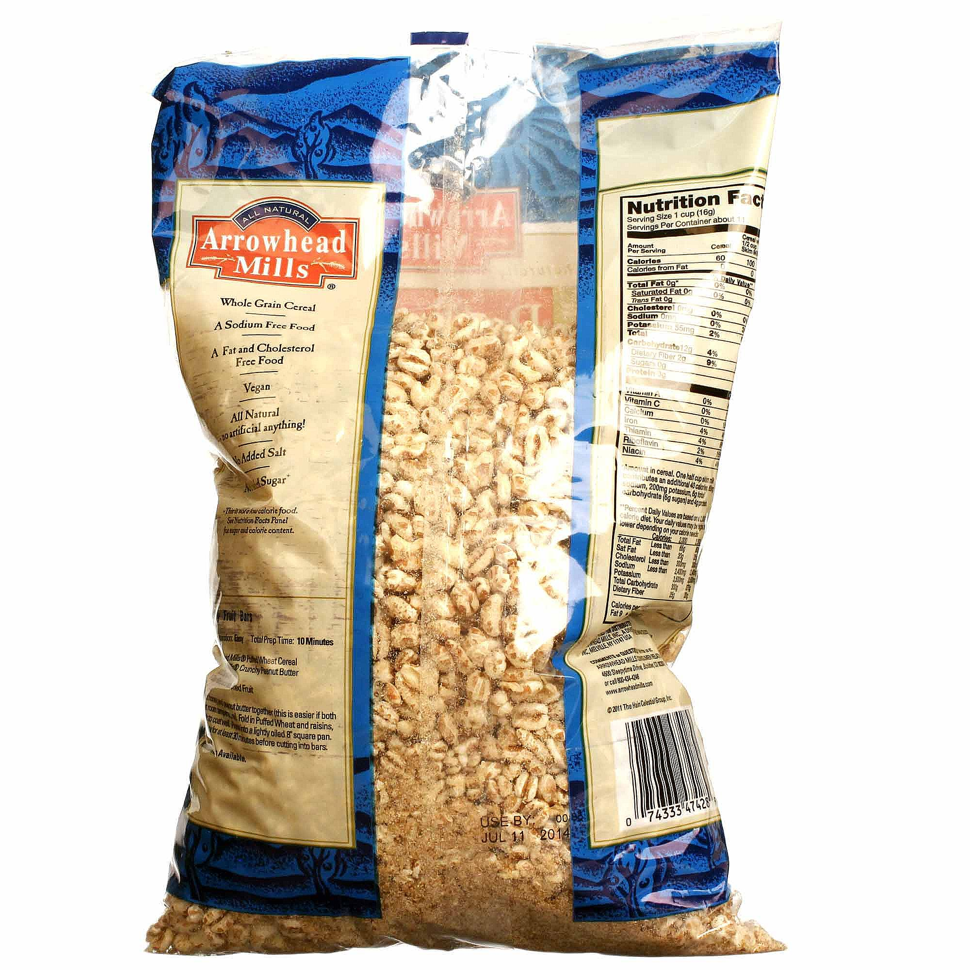 Arrowhead Mills Puffed Wheat Cereal (12 Pack)