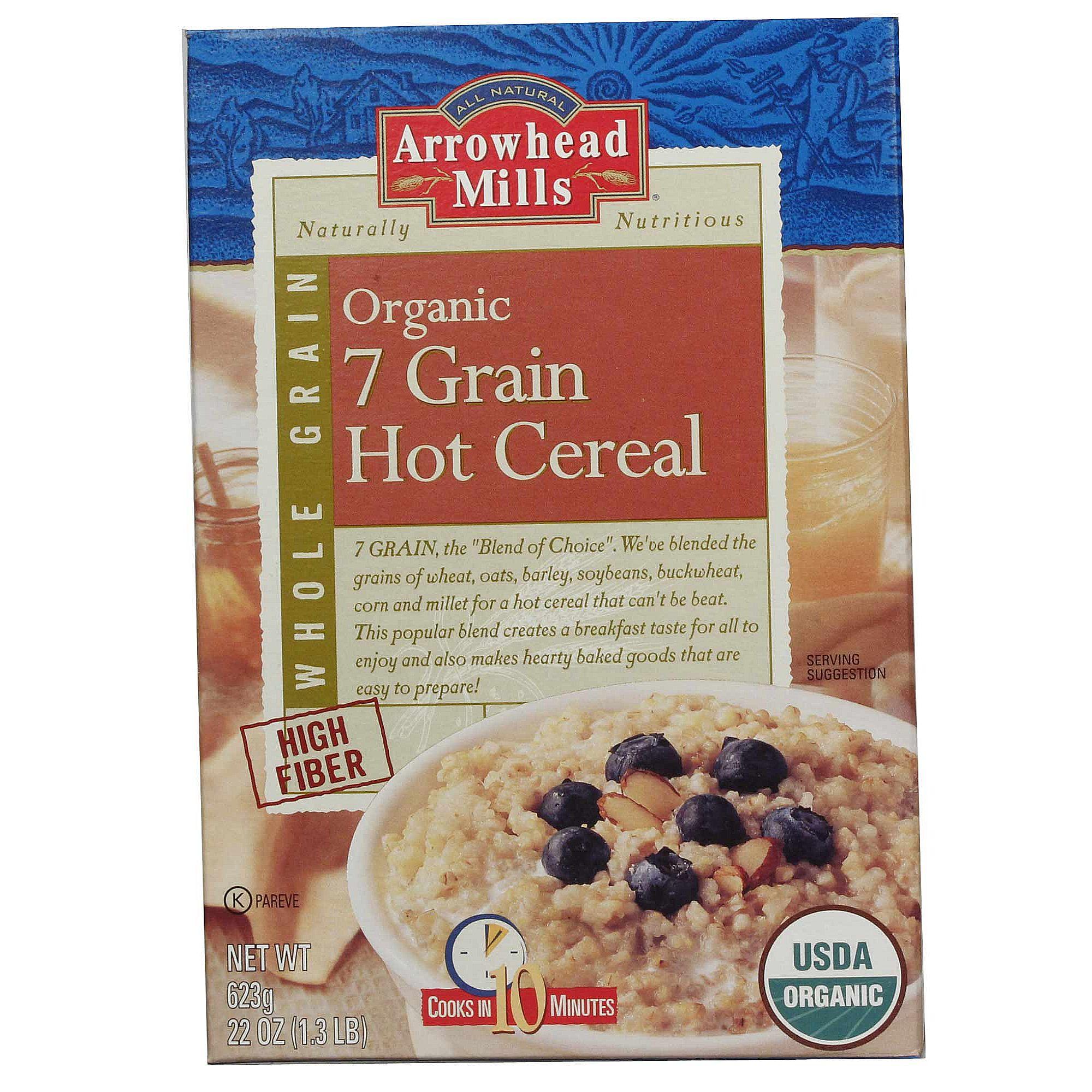Arrowhead mills organic 7 grain hot cereal 22oz box evitamins organic 7 grain hot cereal hover to zoom ccuart Choice Image