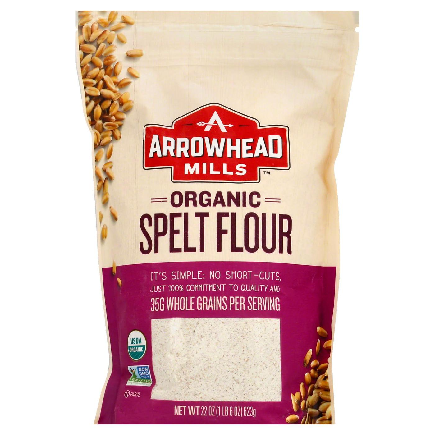 Arrowhead Mills Spelt Flour, Organic - 22 oz - eVitamins.com